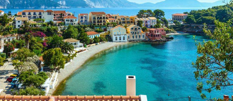 Assos aan de kust van Kefalonia