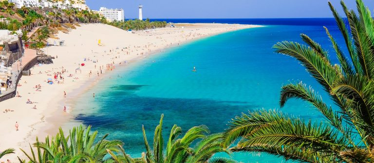 Uitkijk over de kust van Fuerteventura