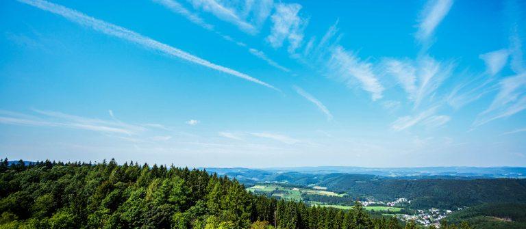 Weids uitzicht over het Sauerland