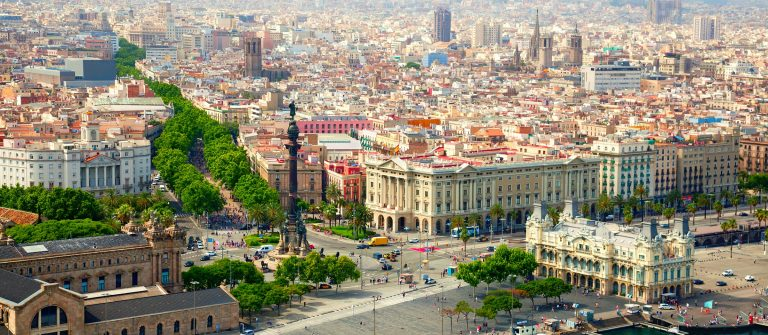 Prachtig uitzicht over Barcelona