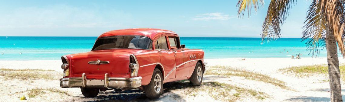 Oldtimer op het strand van Varadero