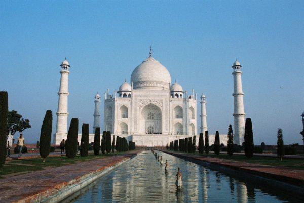 De wereldberoemde Taj Mahal