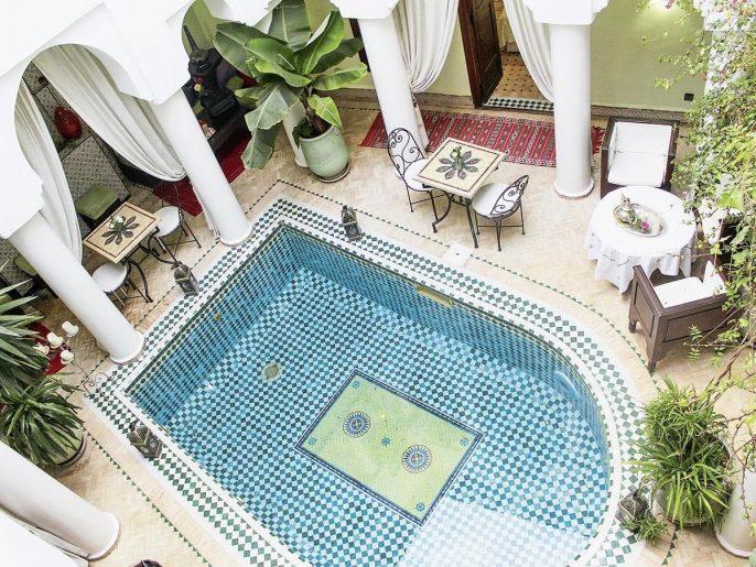 Het zwembad van Riad Alida in Marrakesh