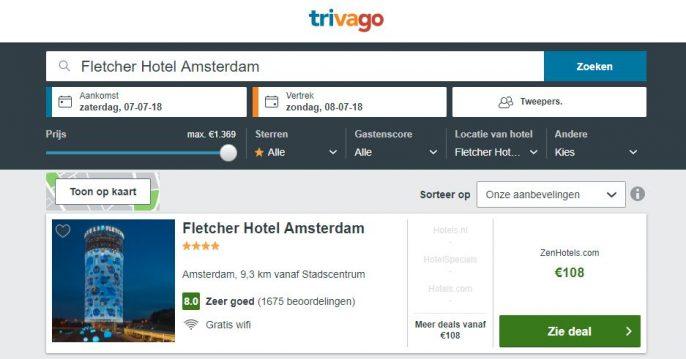 Screenshot Trivago