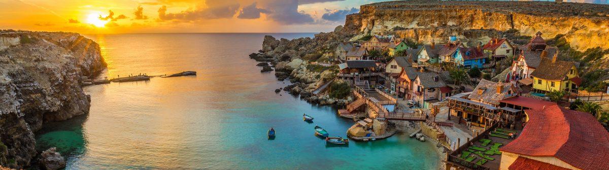 zonsondergang op Malta