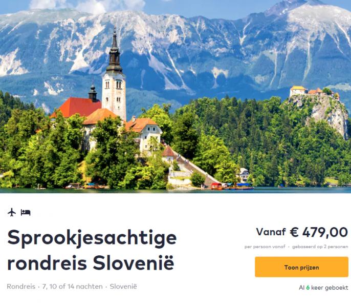 Screenshot van de Slovenie rondreis