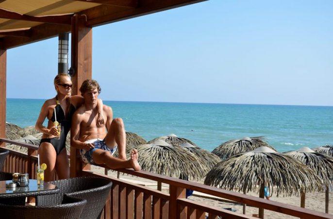 Balkon aan het strand