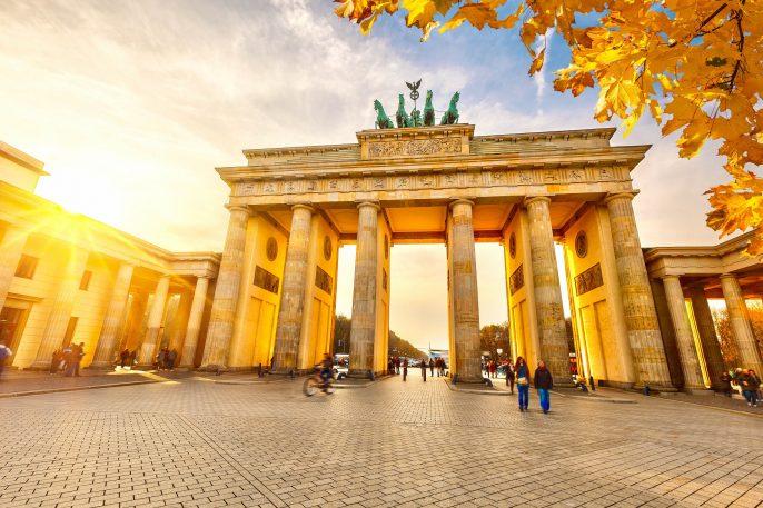 De Branburger Tor in Berlijn