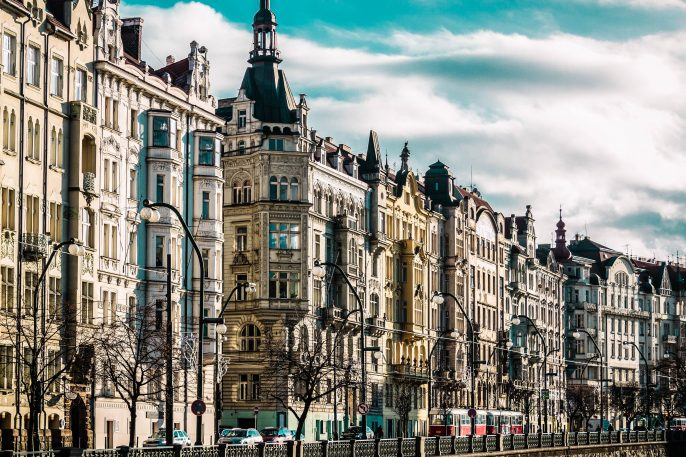 Straat in Praag