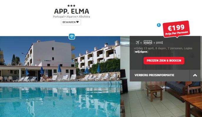Screenshot Algarve deal