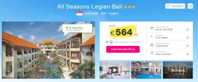 Screenshot Bali deal
