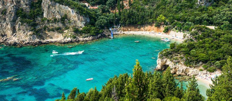 Baai in Corfu