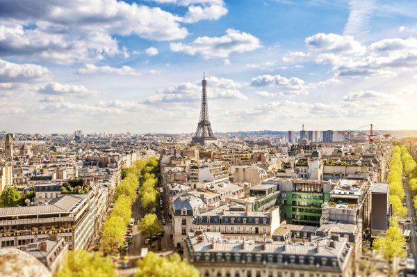 Panoramisch uitzicht over Parijs