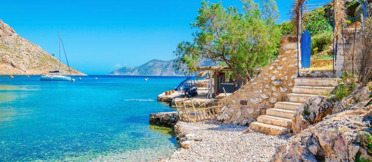 Zee en strand Korfu