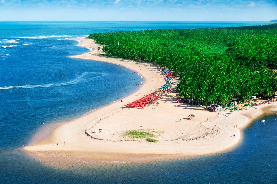Maceió beach in Brazilië