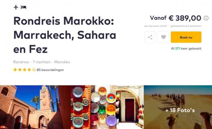 Screenshot vakantie Marokko
