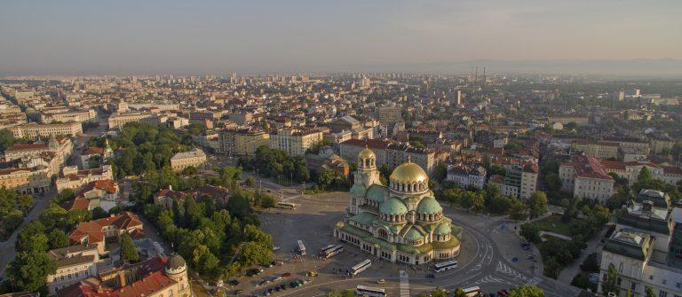 Uitzicht over Sofia