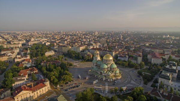 Panoramisch uitzicht over Sofia