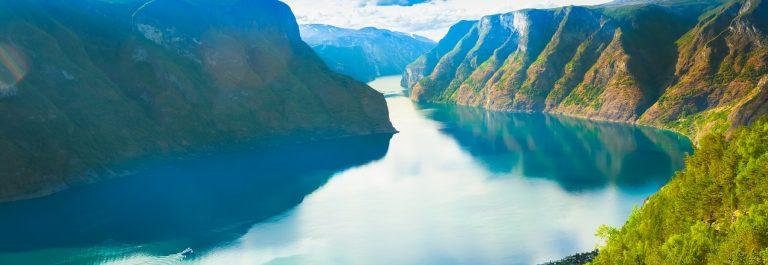 Sognefjorden in Noorwegen