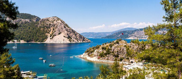 Strand en zee in Turkije