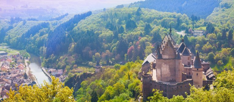 Het kasteel van Vianden in Luxemburg