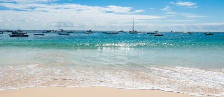 Strand op Sal Kaapverdië