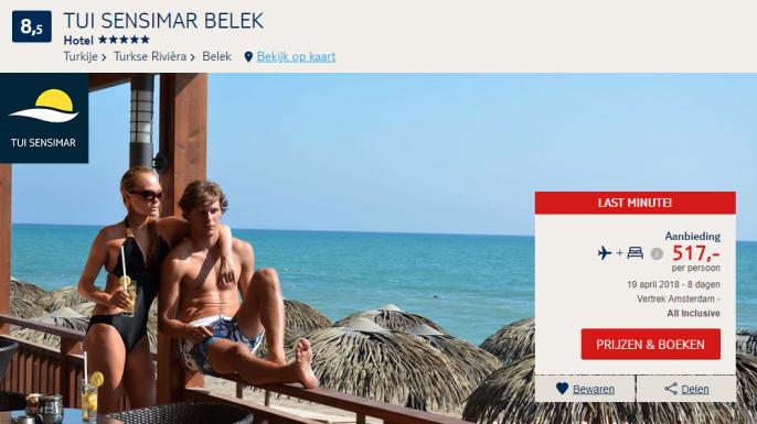 Screenshot deal Turkije