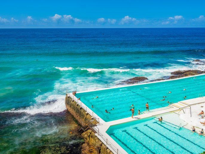Zwembad bij Bondi Beach in Australië