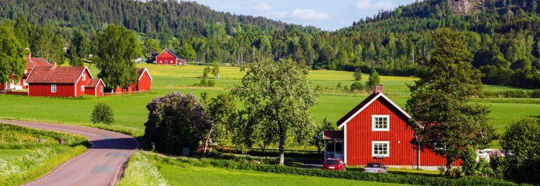 Rode boerderijen in Zweden