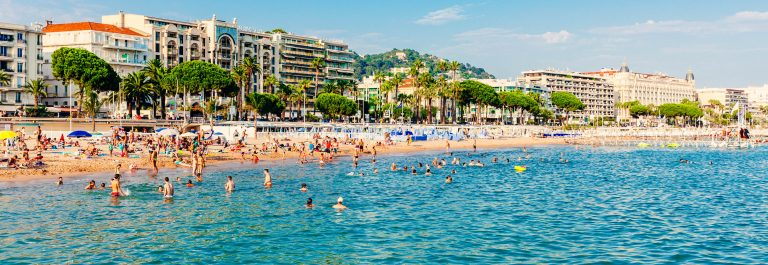 Strand van Cannes