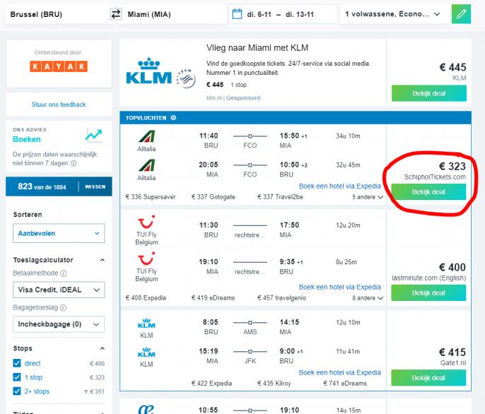 Screenshot Kayak