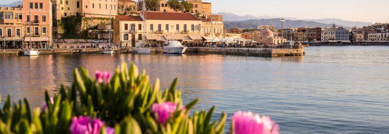 Haven van Chania Kreta Griekenland