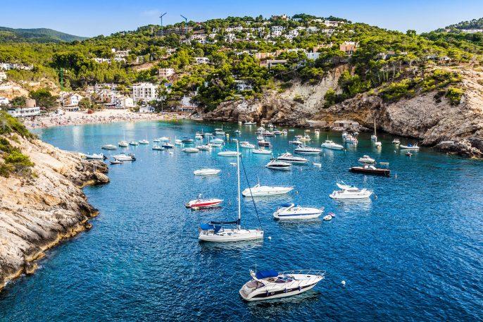 Baai in Ibiza