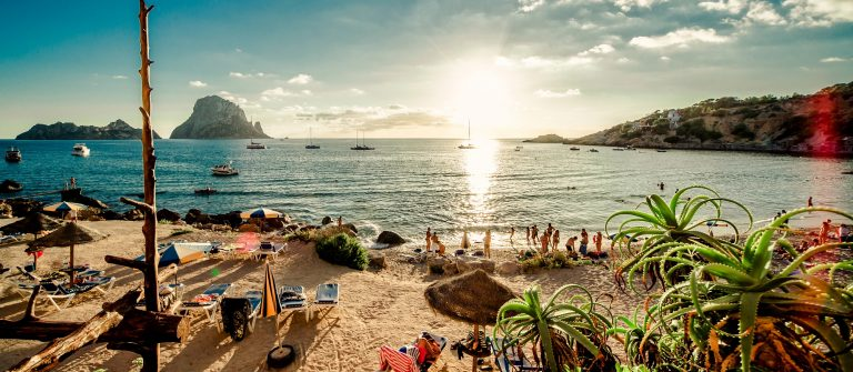 Zonsondergang Ibiza strand