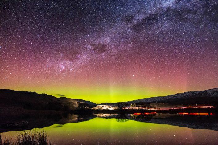 Aurora Australis in Nieuw Zeeland