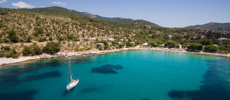 Zeilboot in Thassos