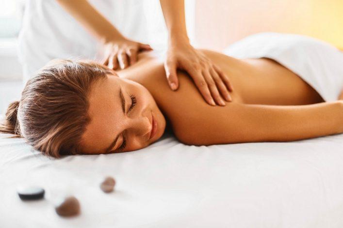 Massage in het wellnessresort