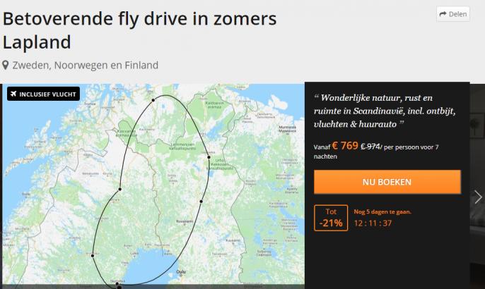 Screenshot van de Lapland reis