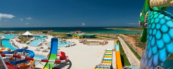 Uitzicht over het resort