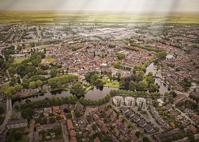 Luchtfoto van Woerden