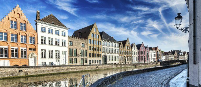Bonte huizen in Brugge