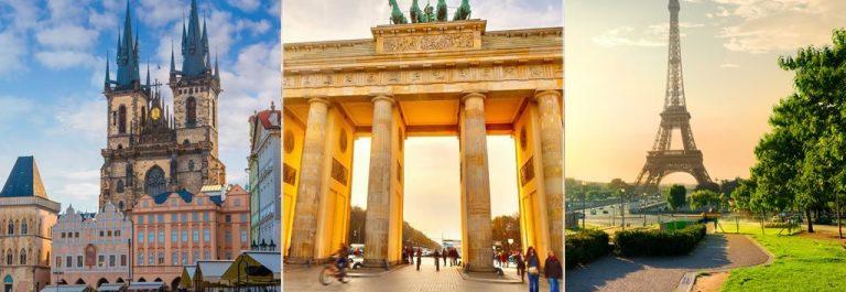 Praag, Berlijn en Parijs