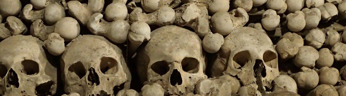 botten in het ossuarium van sedlec