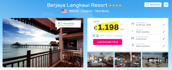 Screenshot Langkawi deal