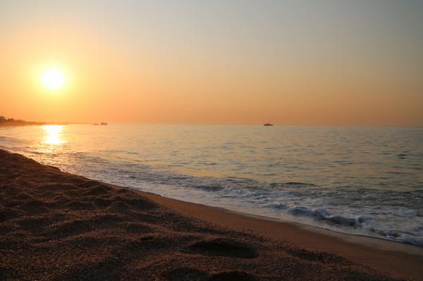 Zonsondergang in Malgrat de Mar