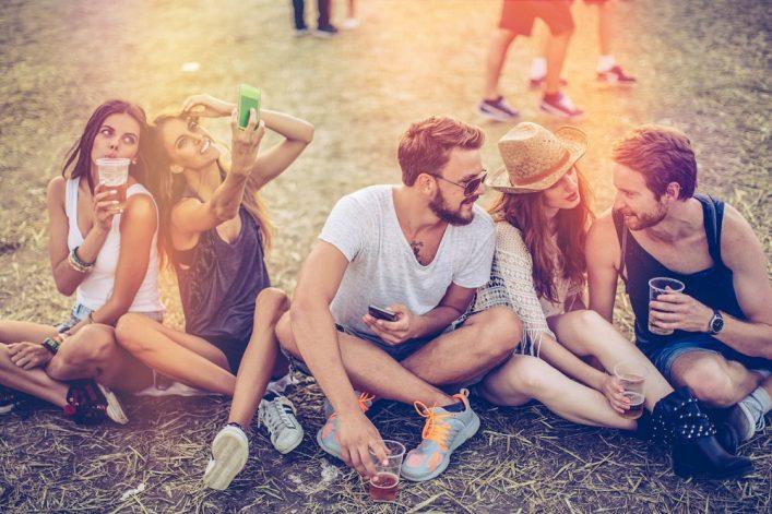 reis naar een festival
