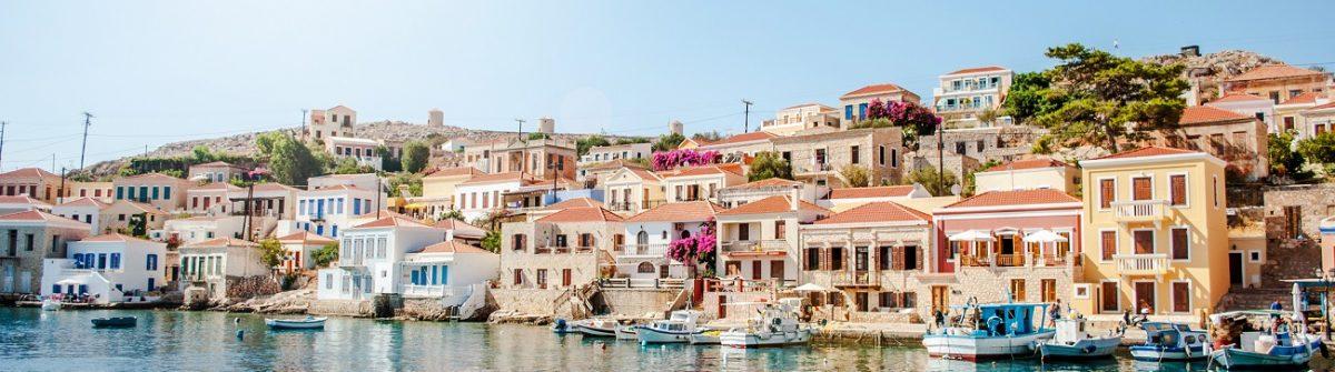 Rhodos Huizen aan zee