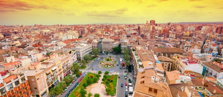 De skyline van Valencia