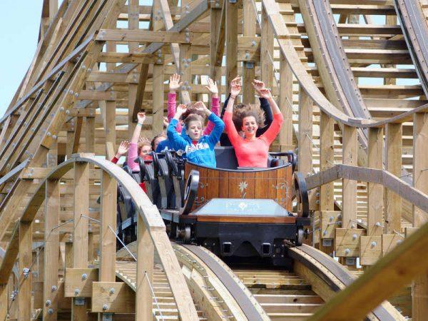 houten achtbaan