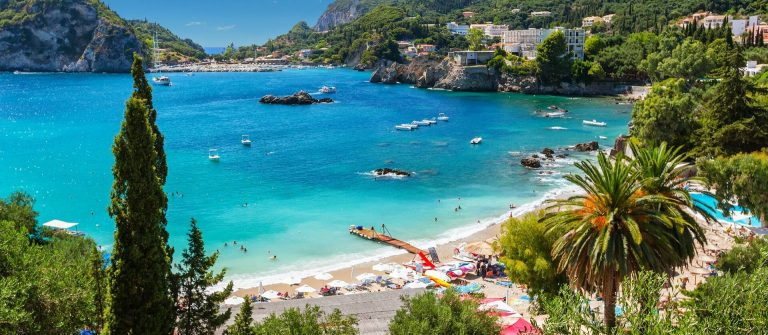 Stranden van Corfu